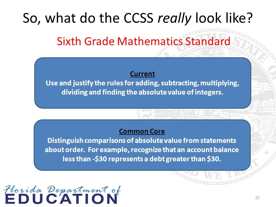 So, what do the CCSS really look like.