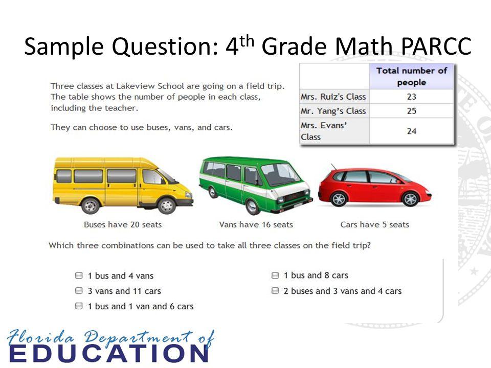 Sample Question: 4 th Grade Math PARCC