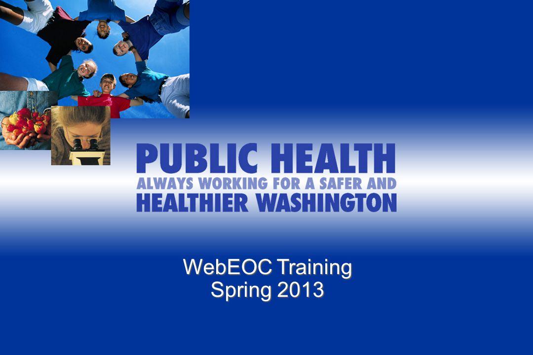 WebEOC Training Spring 2013