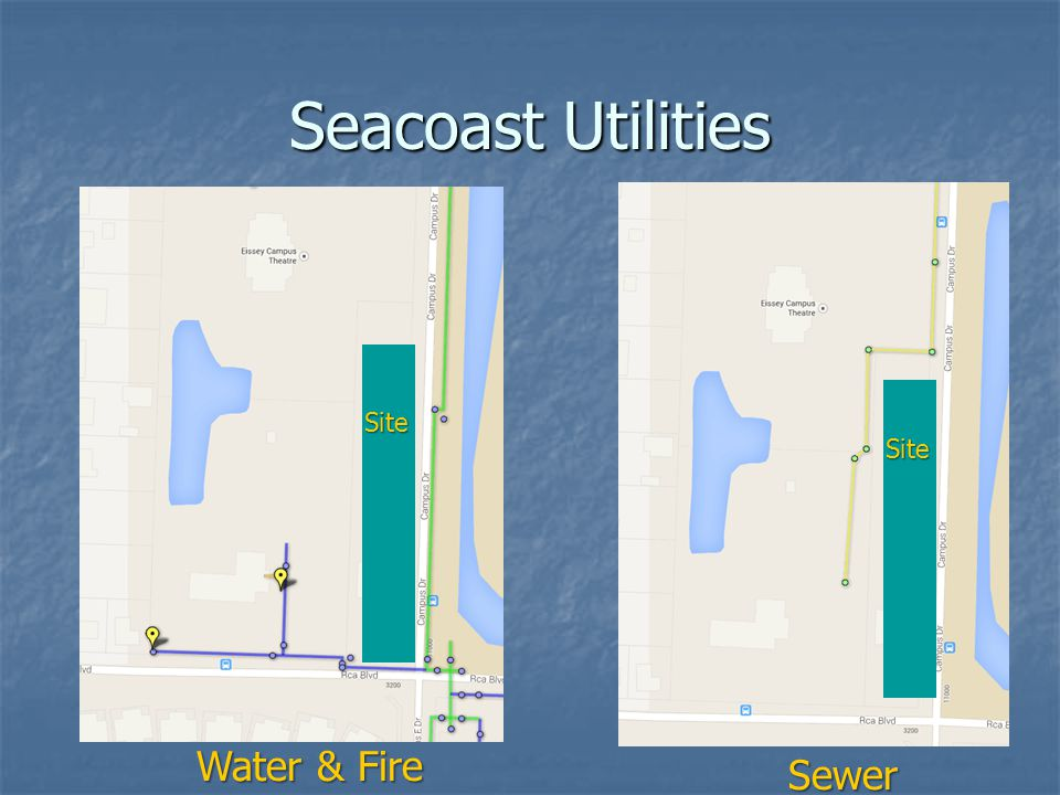 Seacoast Utilities Water & Fire Sewer Site Site
