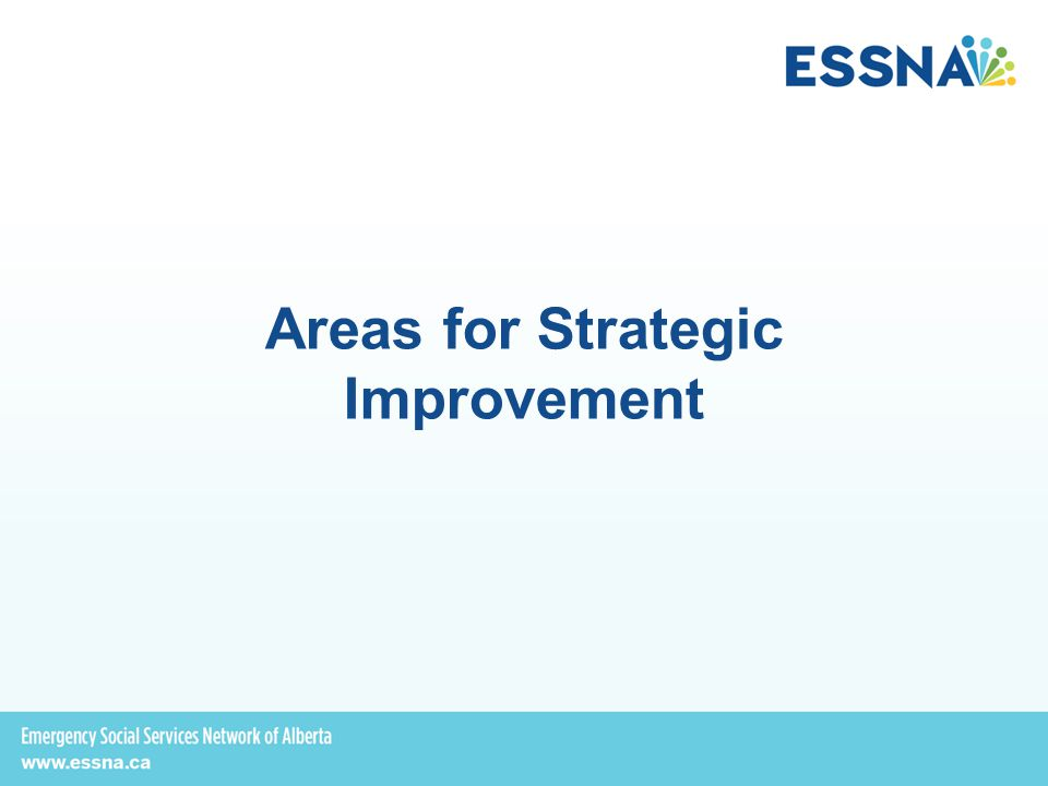 Areas for Strategic Improvement