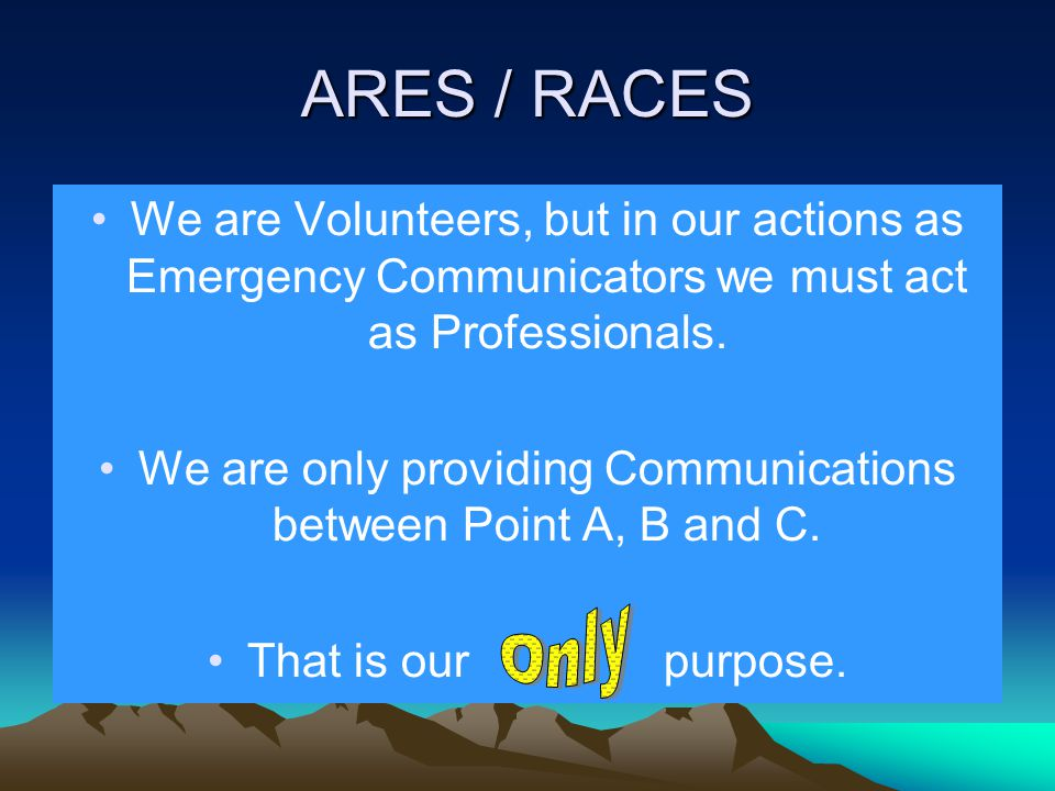 RACES RACES stands for Radio Amateur Civil Emergency Service and is a special part of the Amateur Radio Service developed by FEMA and is a program managed by Local or State Governments.