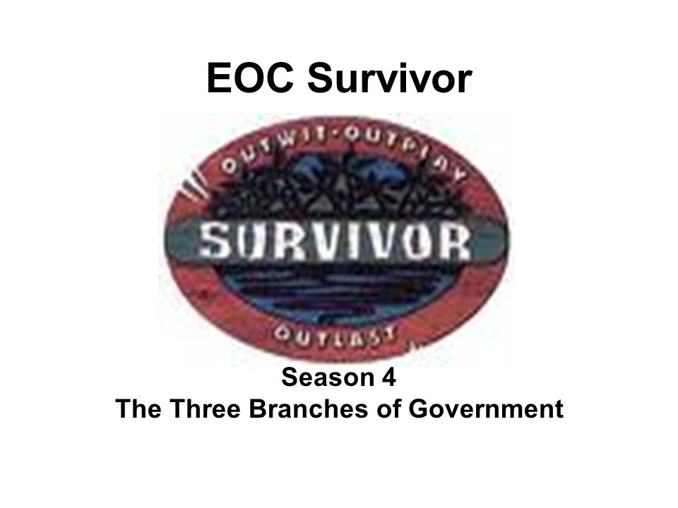 EOC Survivor Season 4 The Three Branches of Government