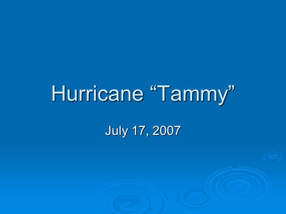 Hurricane Tammy July 17, 2007