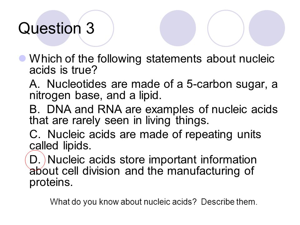 Question 4 Which organelle is used to transport compounds throughout the cell.