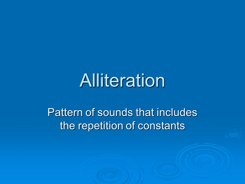 Anaphora Repetition of words at the beginning of successive sentences