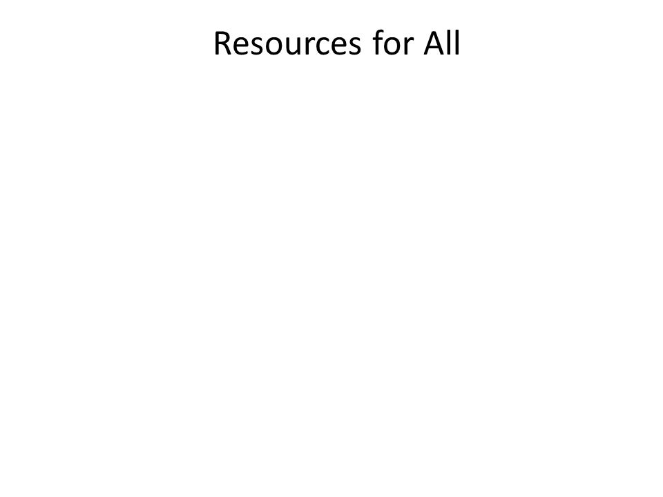 Resources for All