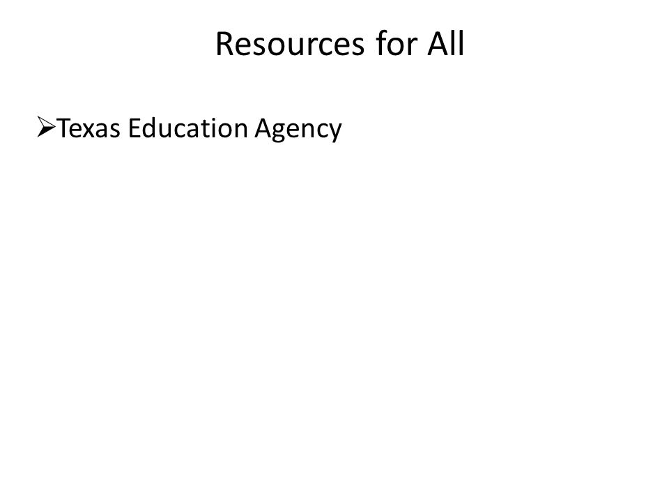  Texas Education Agency