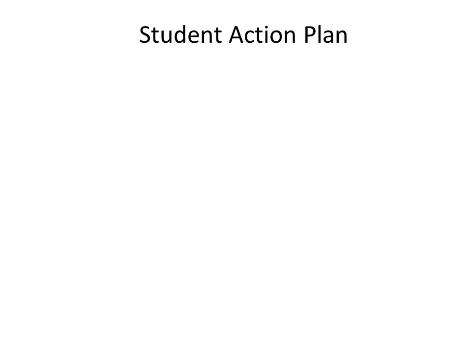 Student Action Plan