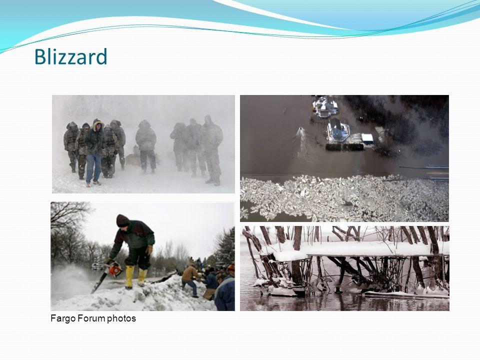 Blizzard Fargo Forum photos