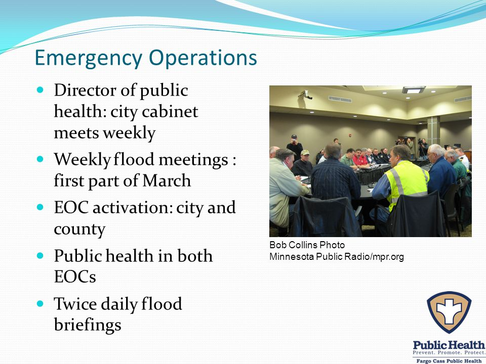 Collaborating Partners Local hospitals, long-term care facilities, congregate living sites for vulnerable populations North Dakota Long Term Care Association North Dakota Department of Health North Dakota Department of Human Services FM Ambulance and transportation providers