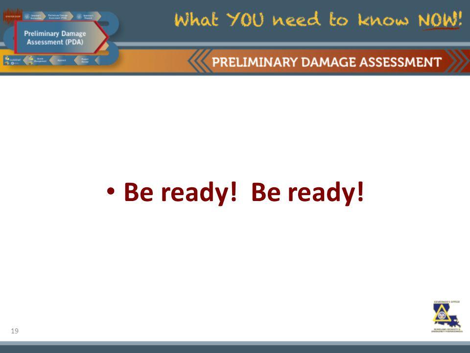 19 Be ready! Be ready!