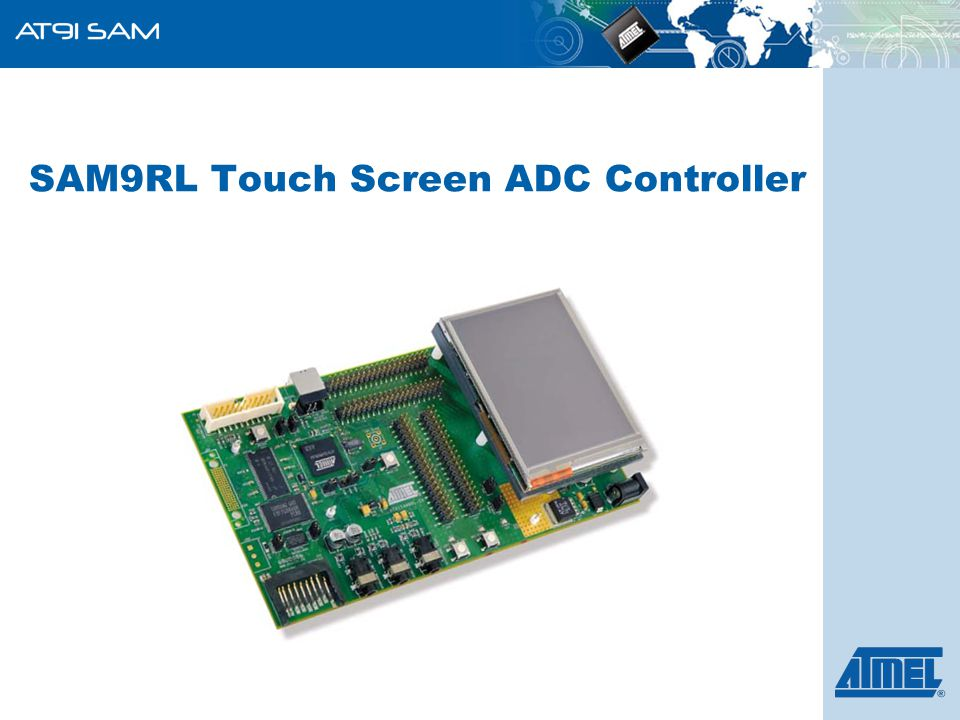SAM9RL Touch Screen ADC Controller