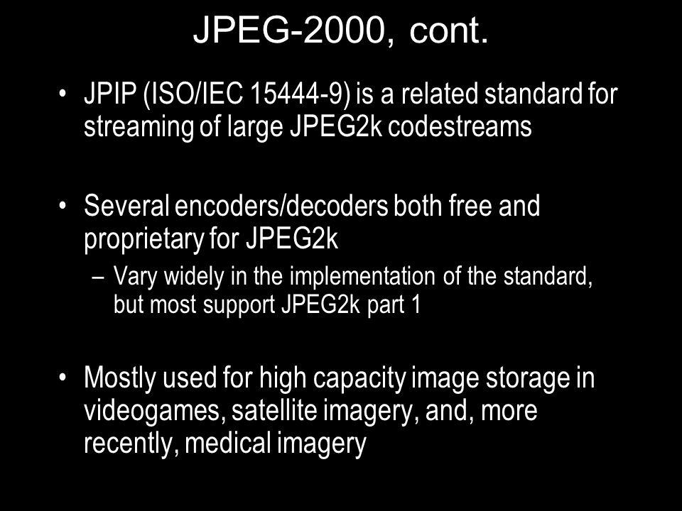 JPEG-2000, cont.