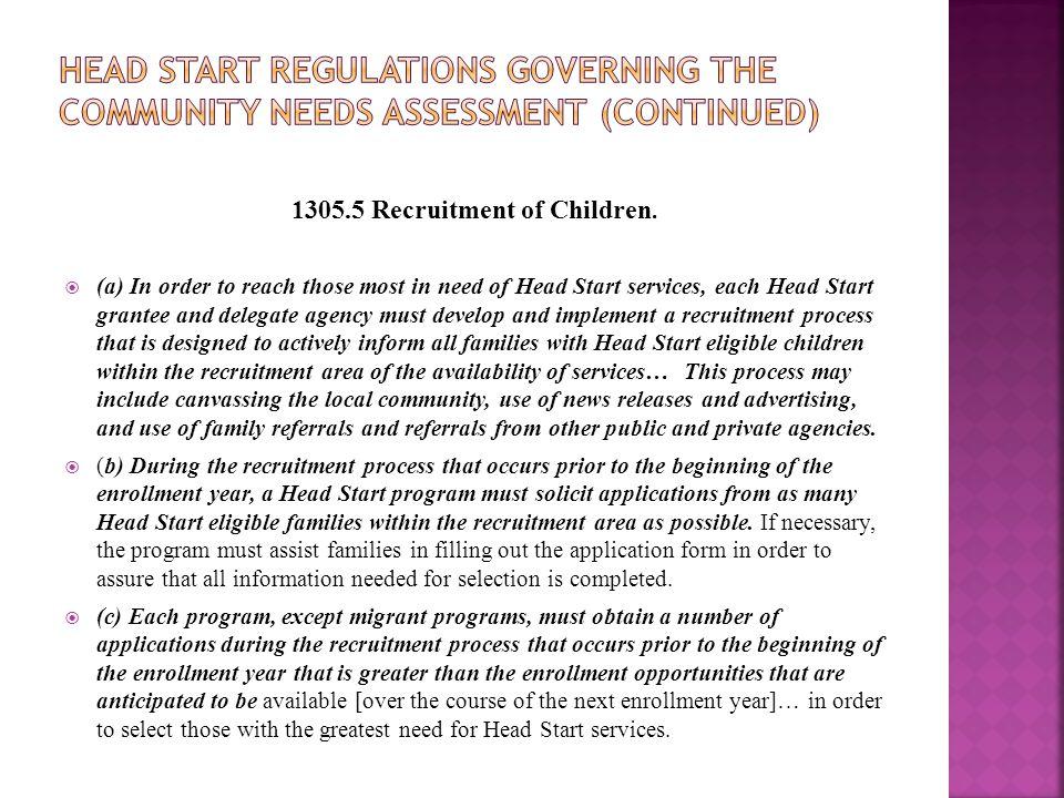 1305.5 Recruitment of Children.
