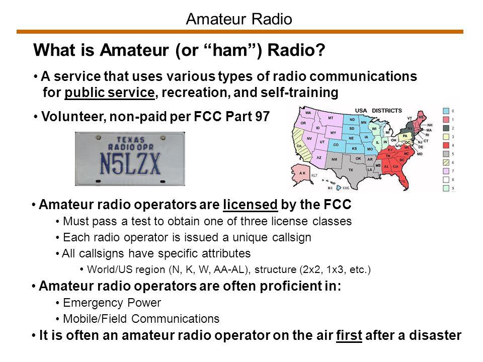 Major Amateur Radio Organizations Radio Amateur Civil Emergency Service (RACES) Est.