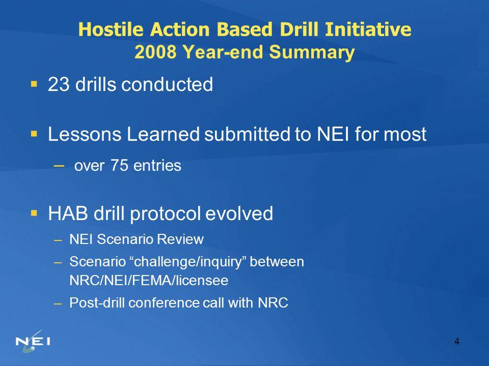 5 Hostile Action Based Drill Initiative Experiences  Fleet Perspective – Exelon –Steve Mannix  Offsite Perspective – NJ Office of Emergency Management –Jon Christiansen