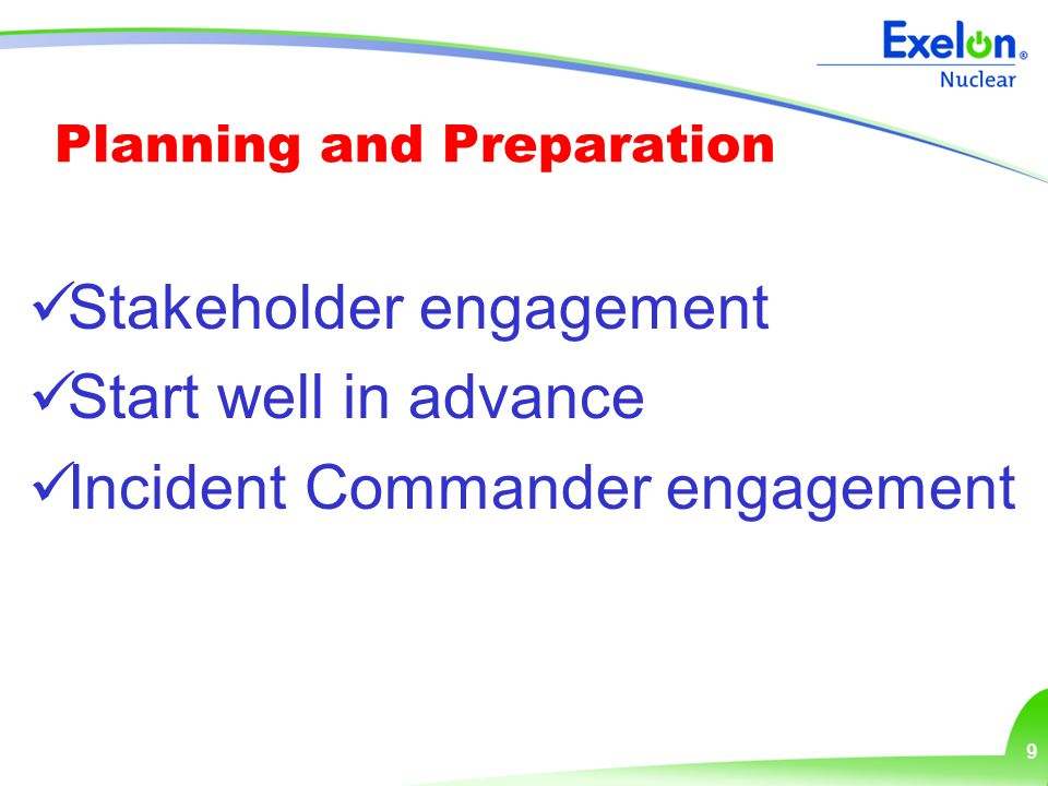 10 Achieving Success Preparing your exercise control materials Preparing your exercise control team and participants Performing as if it were a real event