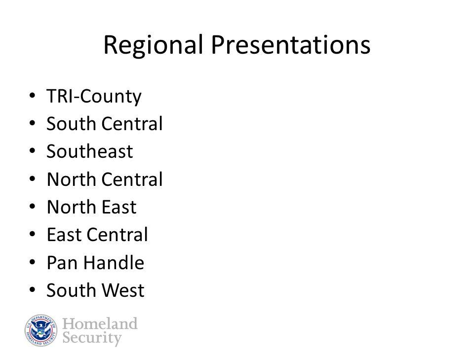 Regional Presentations