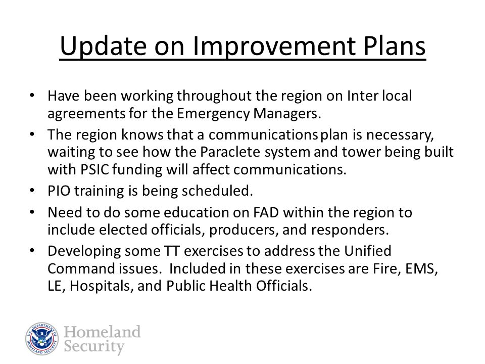 Lessons Learned Need for formalized communications plan (responders and hospitals).