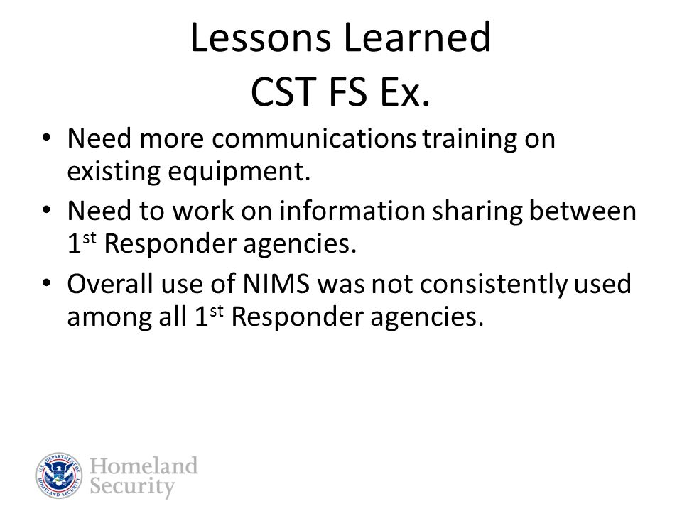 Exercises Conducted in 2008 Mar/Apr 2008– NE/WY CST FSE June 2008 – ICF Pandemic Flu Recovery TTX