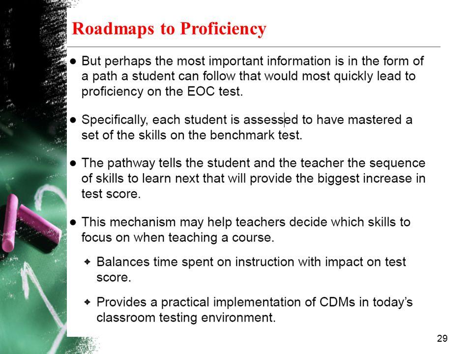 Roadmaps to Proficiency 29