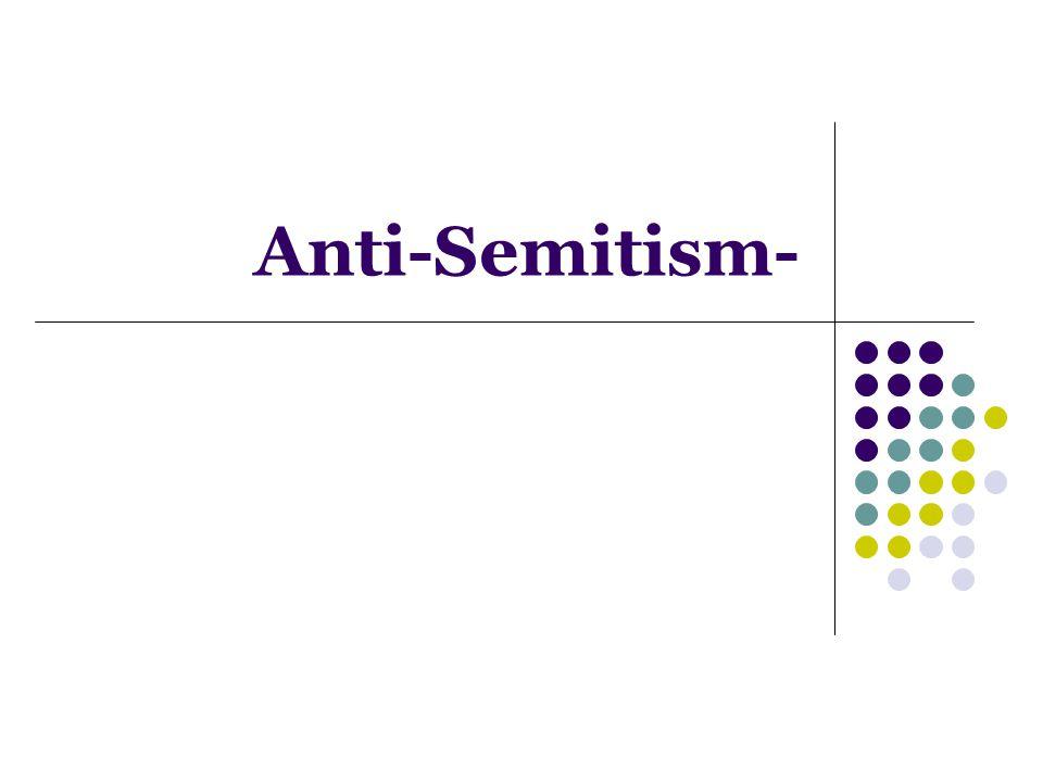 Anti-Semitism-