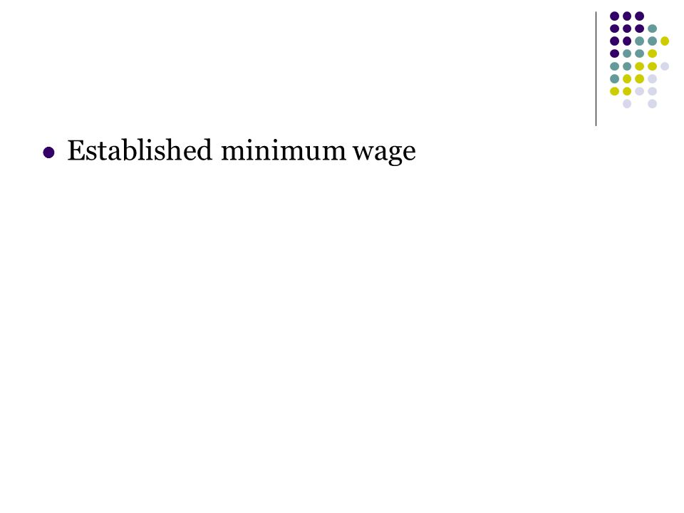 Established minimum wage