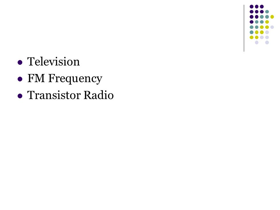 Television FM Frequency Transistor Radio