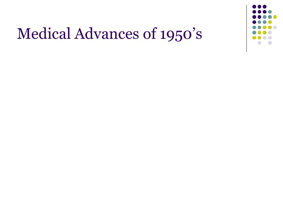Medical Advances of 1950's