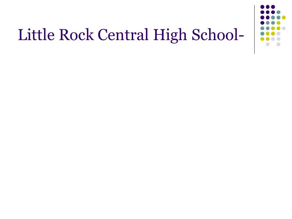 Little Rock Central High School-
