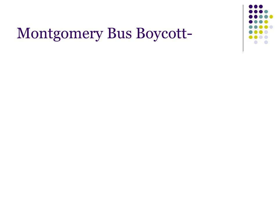 Montgomery Bus Boycott-