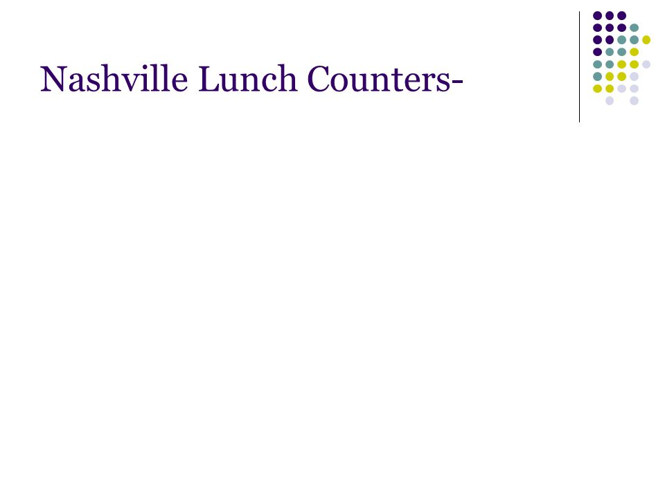 Nashville Lunch Counters-