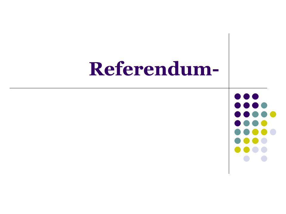 Referendum-