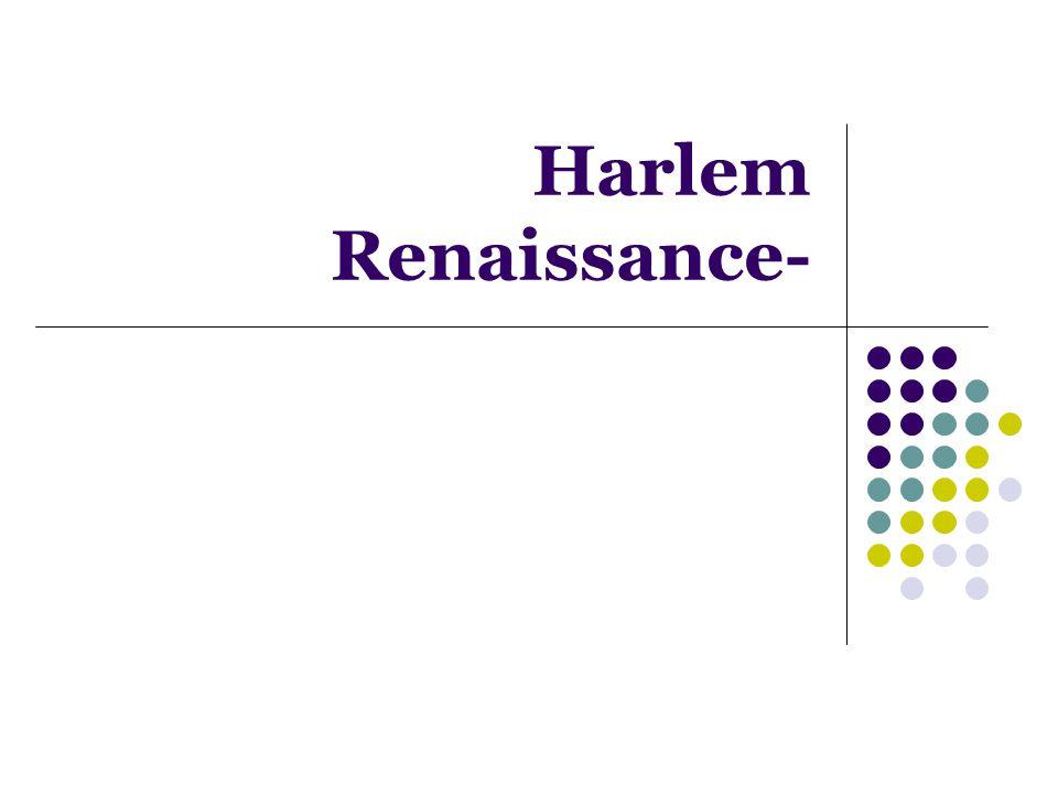 Harlem Renaissance-