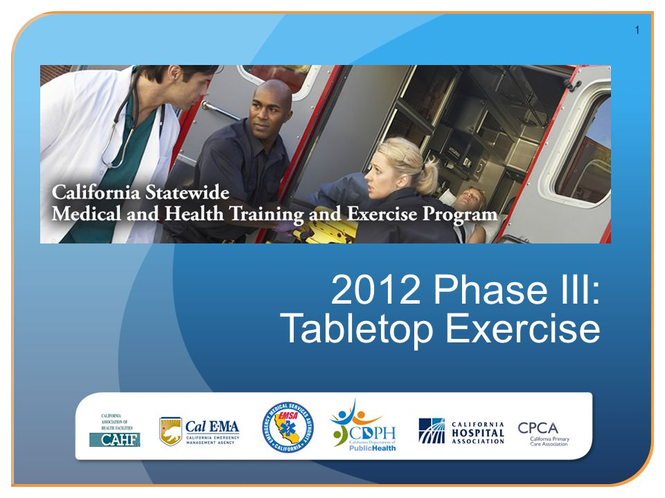 11 2012 Phase III: Tabletop Exercise