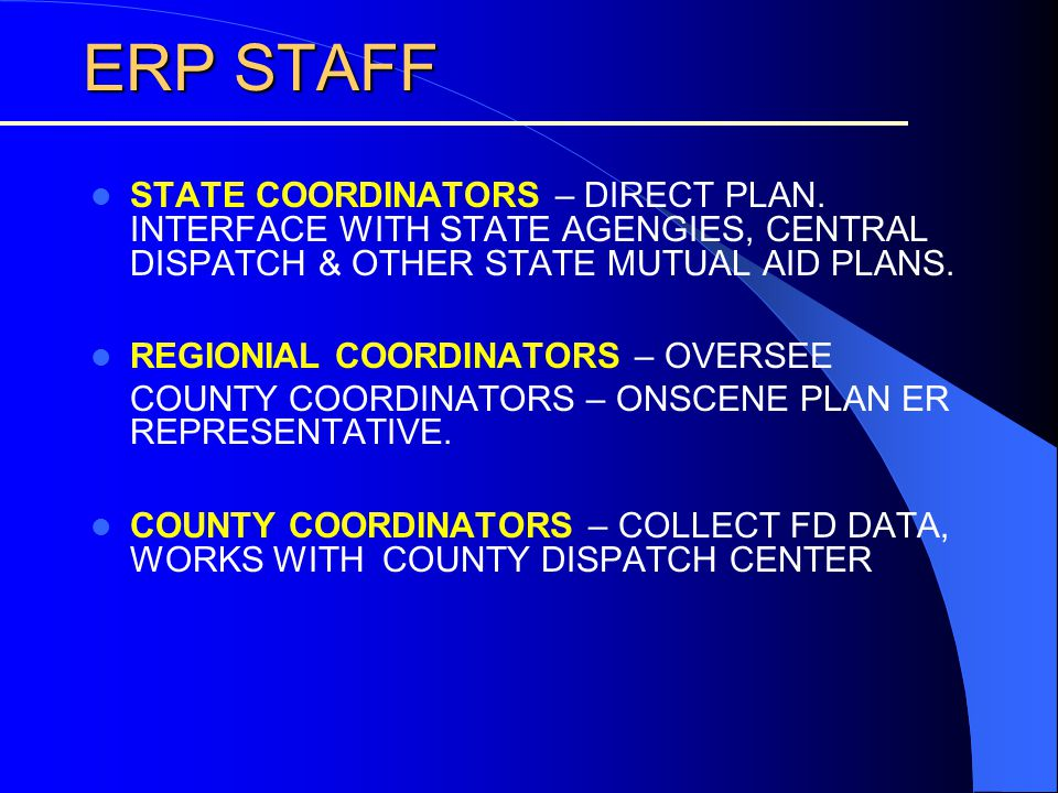 ERP STAFF ERP STAFF STATE COORDINATORS – DIRECT PLAN.