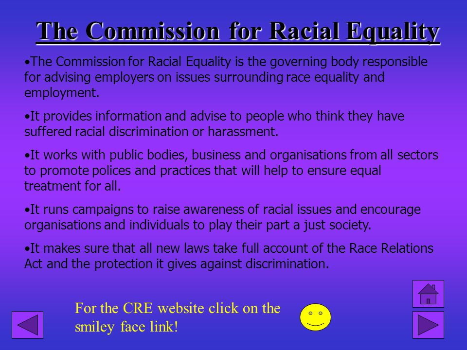 Click on the smiley face link for a test on racial discrimination. It makes Chief officers of Police liable for Acts if discrimination by Officers und