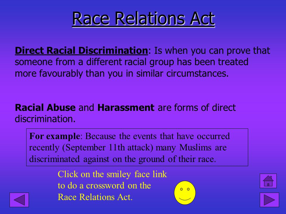 The Role of the EOC To test you knowledge on the Sex Discrimination Act Click on the smiley face link! The EOC is the leading agency working to elimin