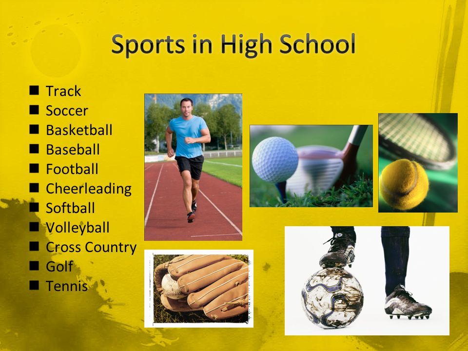 Track Soccer Basketball Baseball Football Cheerleading Softball Volleyball Cross Country Golf Tennis