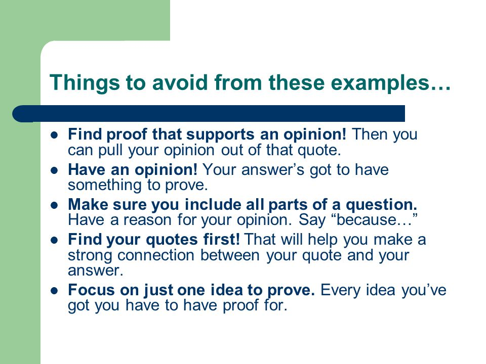 Strategy for Questions 1 & 2: Read the question first.
