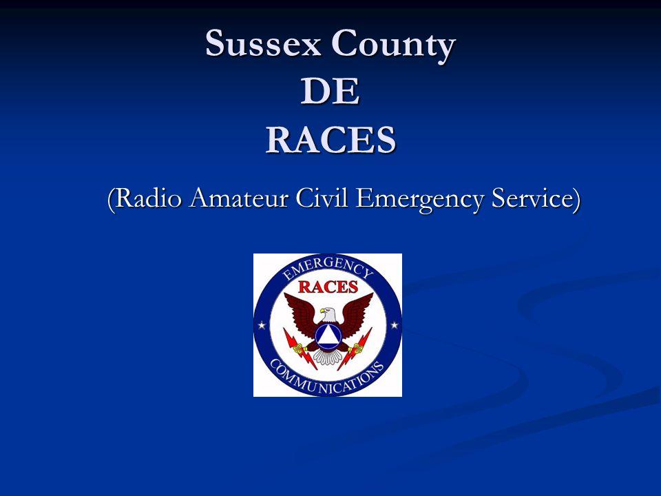 Sussex County DE RACES (Radio Amateur Civil Emergency Service)