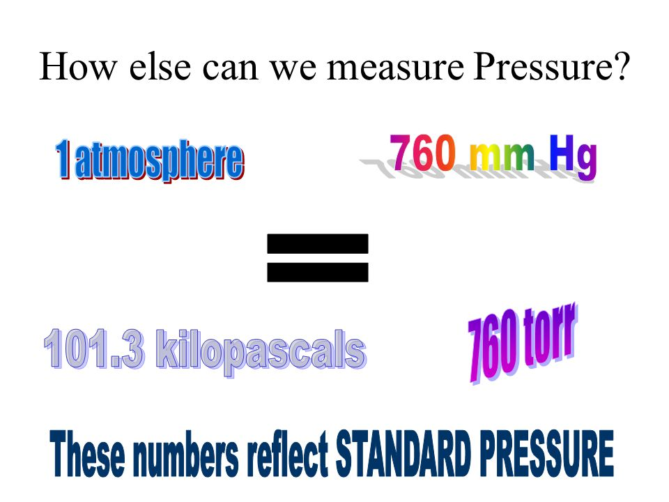 How else can we measure Pressure