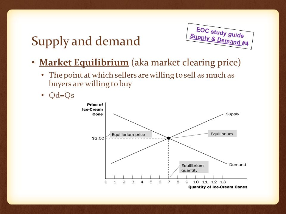 Moving Toward Equilibrium Surplus is the condition in which the quantity supplied of a good is greater than the quantity demanded.
