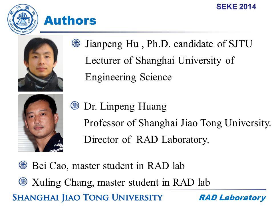 RAD Laboratory Authors Jianpeng Hu, Ph.D.