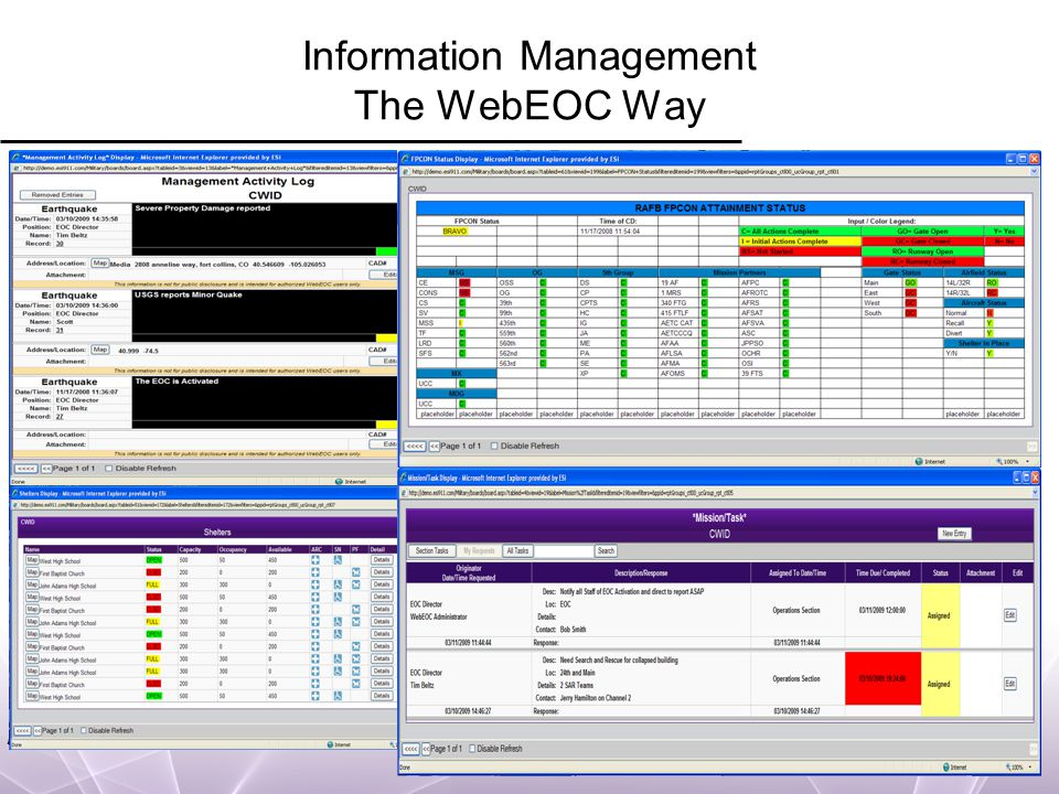 WebEOC Boundless Collaboration Information Management The WebEOC Way
