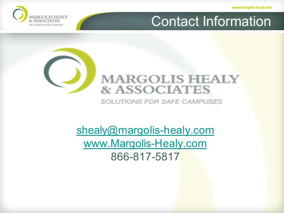 shealy@margolis-healy.com www.Margolis-Healy.com 866-817-5817 Contact Information