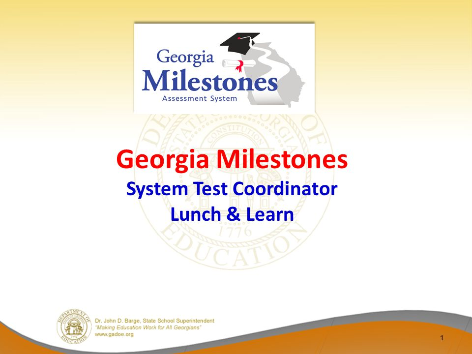 Sessions will include information and updates from GaDOE and time of questions from districts – Informal opportunity for discussion Sessions will be limited to one hour in length Standard day/time of day: Fridays from 12:00 PM – 1:00 PM Future sessions – October 31 – November 14 2 STC Lunch & Learn Norms
