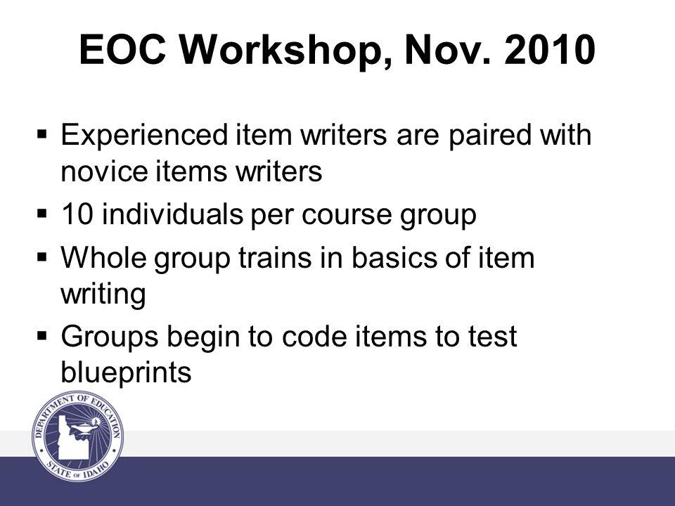 EOC Workshop, Nov.