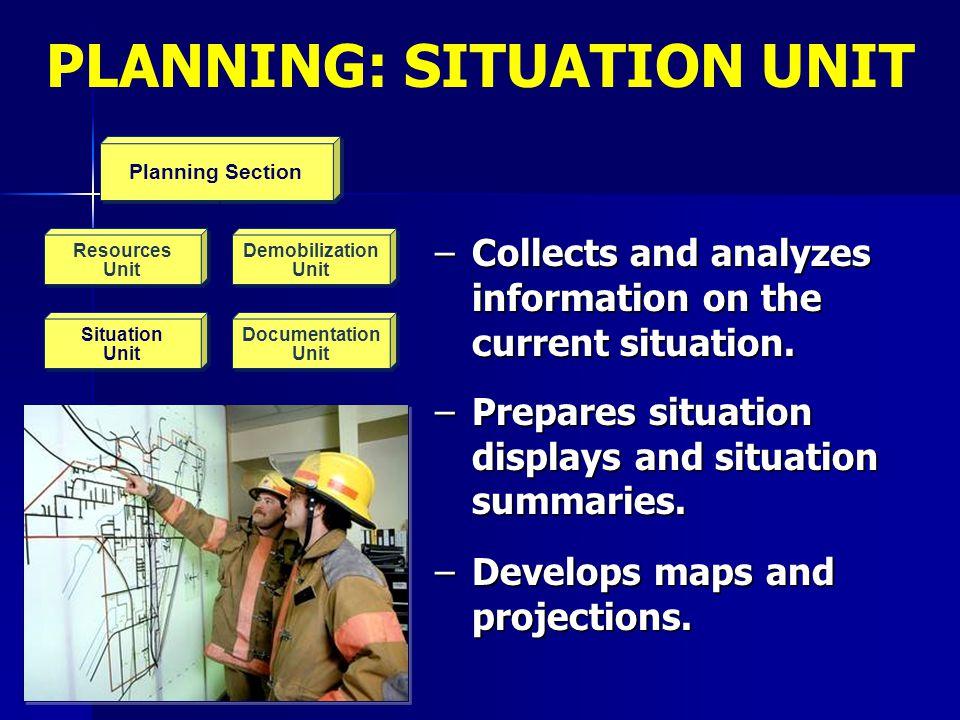 Planning Section Resources Unit Resources Unit Demobilization Unit Demobilization Unit Situation Unit Situation Unit Documentation Unit Planning Secti